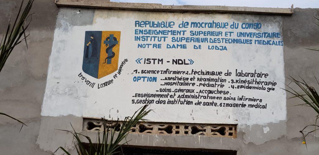 Lodja RDC enseignement santé soins médicaux hôpital construction équipement centre santé