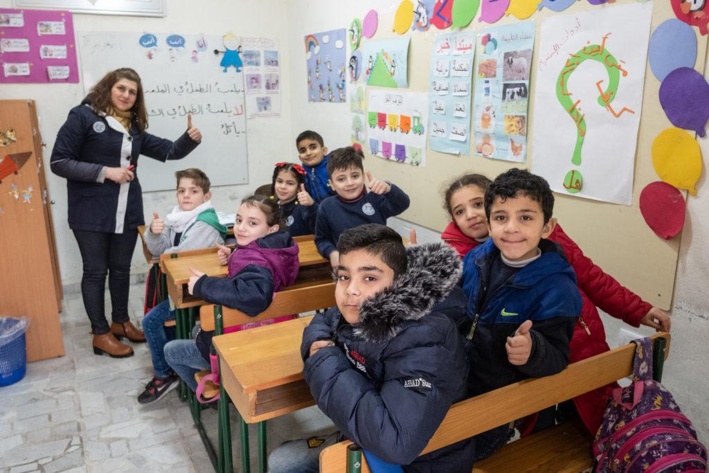 Syrie projet éducation formation enseignement école enfants